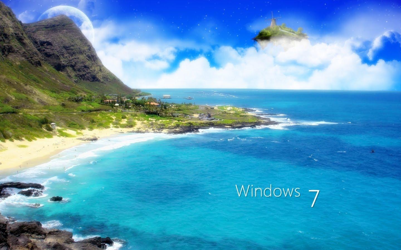 Windows 7 imagem do mar