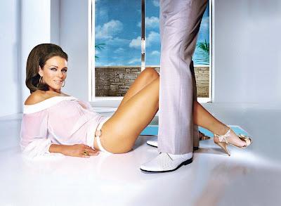 hot babe model Elizabeth Hurley photo shoot scan