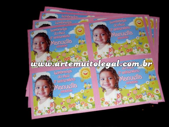 Arte muito legal Convites infantis e lembrancinhas