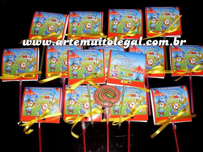 Arte muito legal - Convites infantis lembrancinhas de aniversário