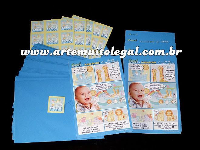 Arte muito legal Convites especiais em papel couche impressos à laser .