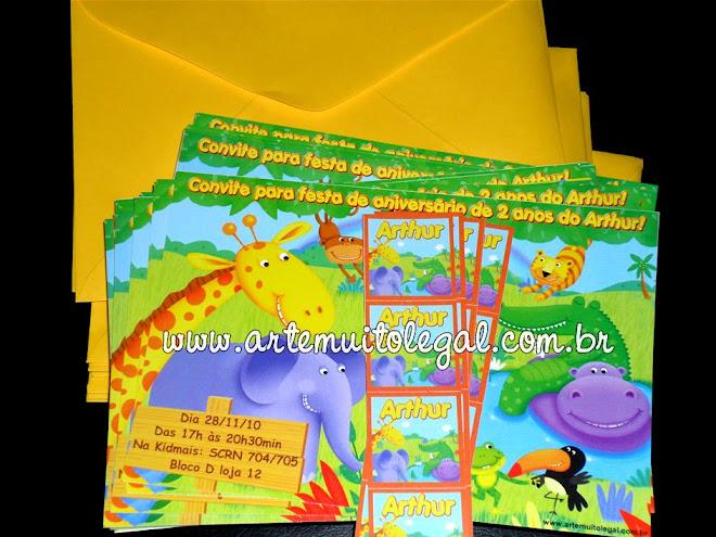Arte muito legal - Convites infantis temáticos e lembrancinhas de aniversário