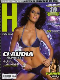 Claudia Alvarez Semi Desnuda