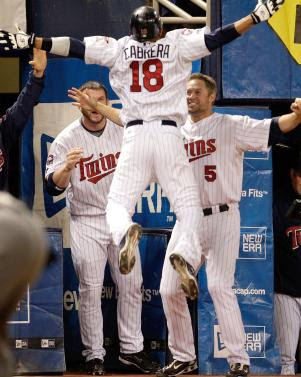 Twins Celebrating a great play
