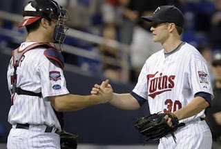 Twins Players shaking hands