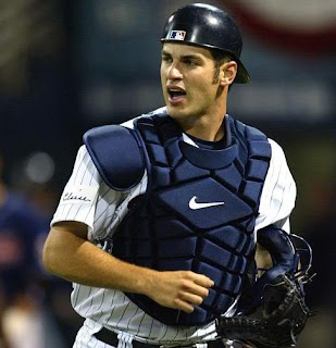 Joe Mauer jogging in his catchers gear