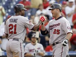 Delmon Young and Jim Thome