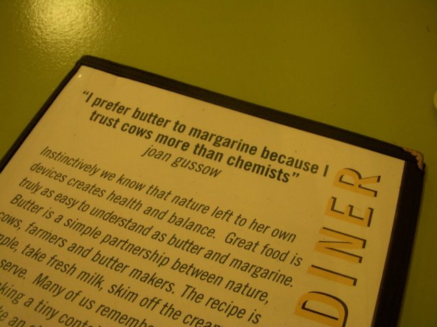 a word from a menu at the farmer's diner