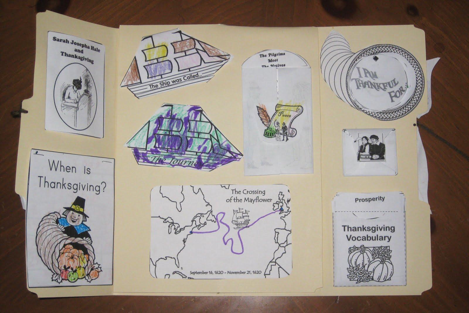 Homeschooling in Heels: Thanksgiving Lapbook