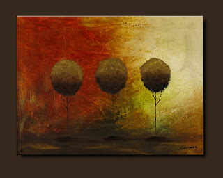 Landscape Painting-Once Upon a Time-Abstract Art Paintings by Carmen Guedez - Image