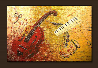 Impressionist Painting-Concertino-Abstract Art Paintings by Carmen Guedez - Image