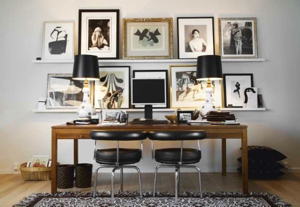 the desk of malene birger via full house