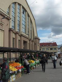 Zeppelin Hangar market in Riga