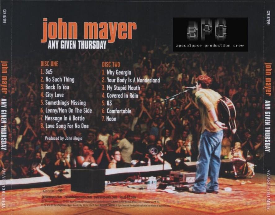My Music Collection John Mayer