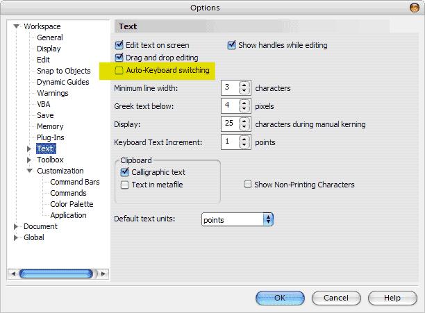 Mac'te corel 11 türkçe karakter problemi