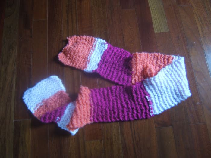 """super soft tricolour scarf"""