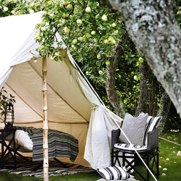 Beautiful living camping for grown ups for Permanent camping tents