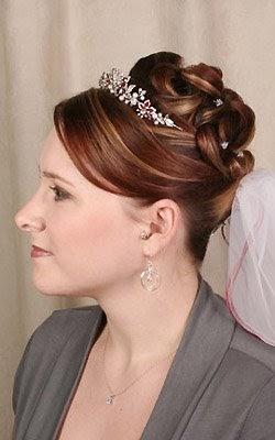 bridal hairstyles with bangs