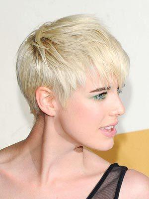 short choppy hairstyle. Side Swept Bangs On Short Hair
