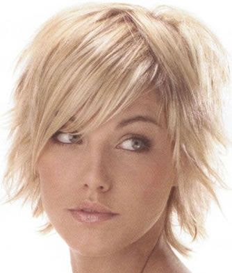 Wispy Layered Hairstyle Fine hair is cut in subtle, soft layers to build