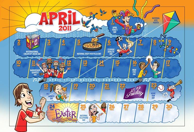 april calendar. April 2011 calendar