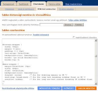 HTML szerkesztése