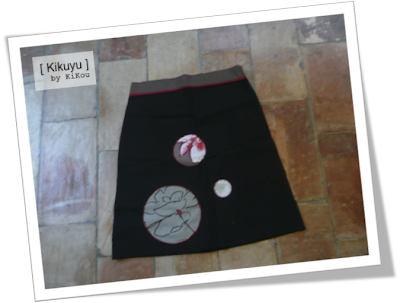 couture jupe trapèze dos