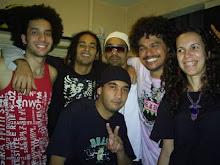 DJ Chris Souldeep (ao centro), Cláudia (Minha Esposa), Léo Maia (Filho de Tim Maia) e Banda . . .