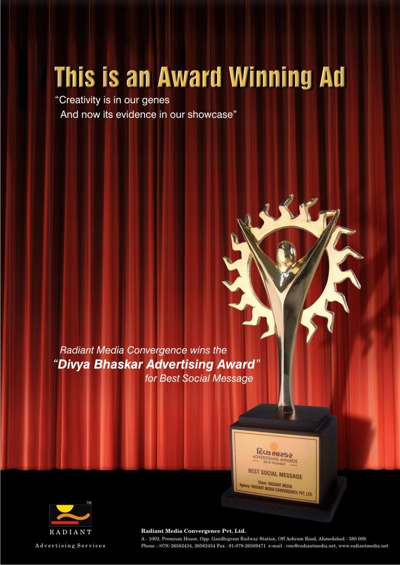 Radiant Media Award Ad
