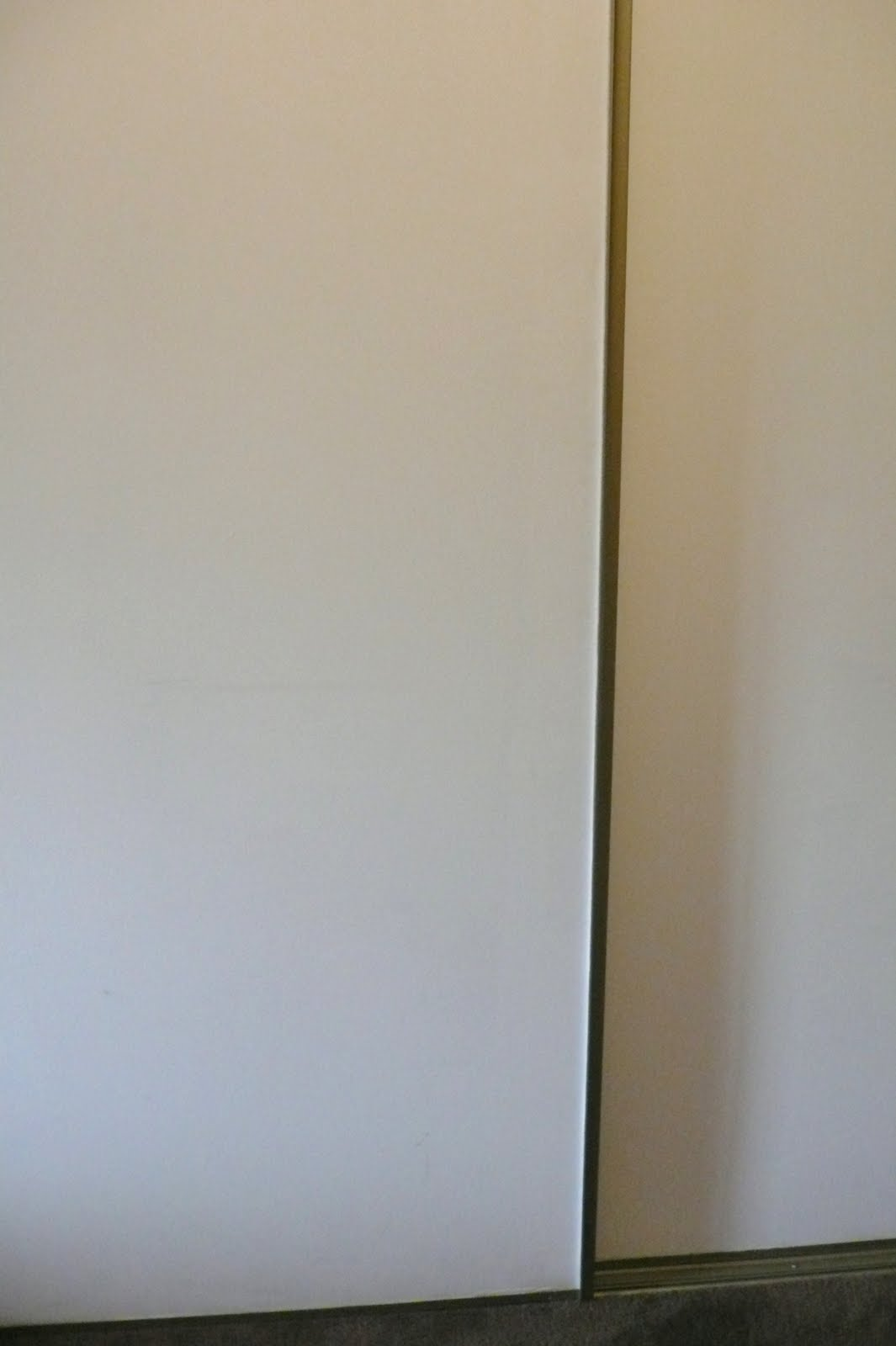 How To Wallpaper Flat Panel Sliding Closet Doors By Tiffany Teske