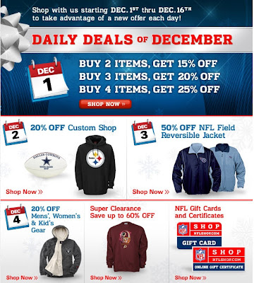 Click to view this Dec. 1, 2008 NFLshop email larger