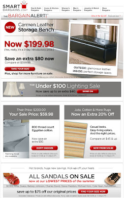 Click to view this Aug. 14, 2008 SmartBargains email full-sized
