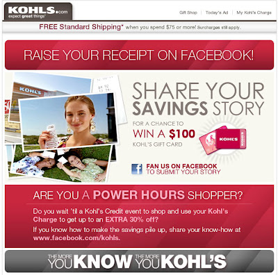 Click to view this Mar. 23, 2010 Kohl's email full-sized