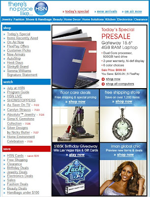Click to view this July 22, 2010 HSN email full-sized