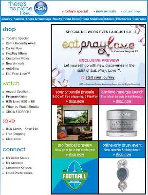 Click to view this Aug. 5, 2010 HSN email full-sized
