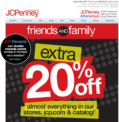 Click to view this Aug. 8, 2010 JCPenney email full-sized