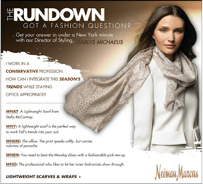 Click to view this Aug. 6, 2010 Neiman Marcus email full-sized