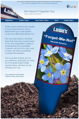 Click to view this Jan. 9, 2011 Lowe's email full-sized