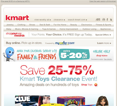 Click to view this Jan. 21, 2011 Kmart email full-sized