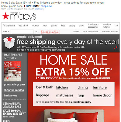 Click to view this Jan. 26, 2011 Macy's email full-sized