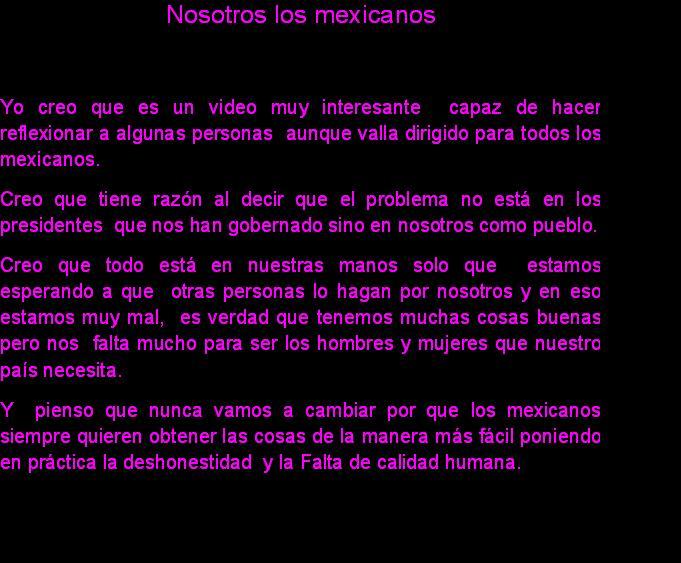 nosotros los mexicanos comentario