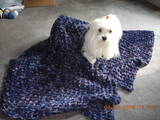 Sissy &amp; Purple Waffle Throw