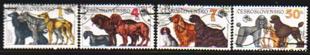 1990年チェコ・スロバキア連邦共和国 アフガン・ハウンド アイリッシュ・ウルフハウンド グレーハウンド チェスキー・テリア ブラッド・ハウンド ハノーヴィリアン・ハウンド キャバリア・キング・チャールズ・スパニエル コッカー・スパニエル アメリカン・コッカー・スパニエル プードルの切手