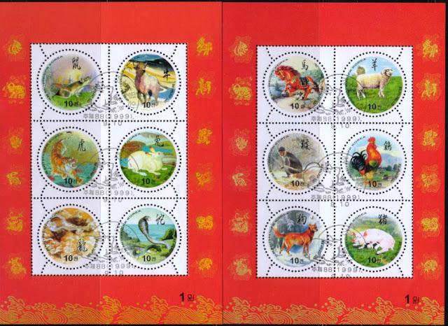 1999年朝鮮民主主義人民共和国(北朝鮮) コリア・ジンドー・ドッグの切手
