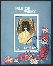 1969年Isle of Pabay(スコットランド) ペキニーズの切手シート