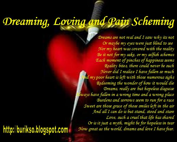 Love And Pain Poems. Another love poem of pain and