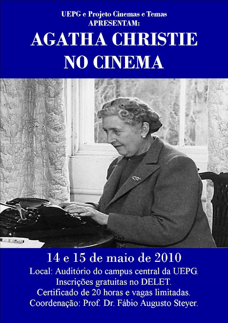 CARTAZ DO CICLO DE FILMES SOBRE AGATHA CHRISTIE