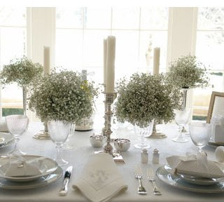 do you think baby's breath bouquets are tacky? :  wedding bridesmaids flowers White