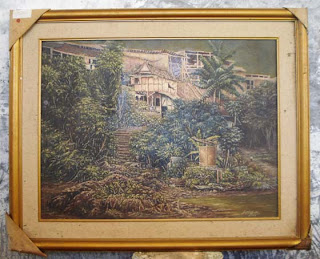 Lukisan pemandangan tepi sungai