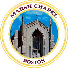 This is Marsh Chapel at Boston University. Background circle will be 'scarlett'.